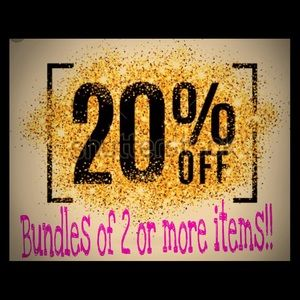 Other - Bundles of 2 or more items are 20% off!!